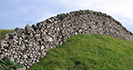 Dry stone wall on a hill in rural England