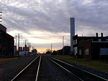 How westbound engineers saw Earlville, Illinois in 1999