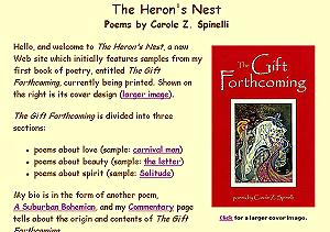 The Heron's Nest - Poems by Carole Z. Spinelli